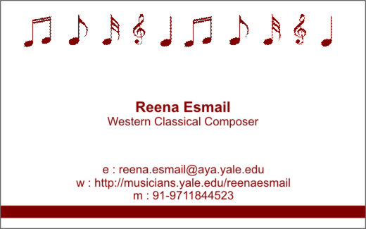 Business Card Reenainindia